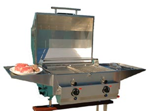 2 Burner Stainless Steel Barbecue